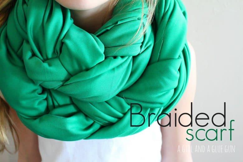 braided knit scarf (no sew!) scarf week! - A girl and a glue gun