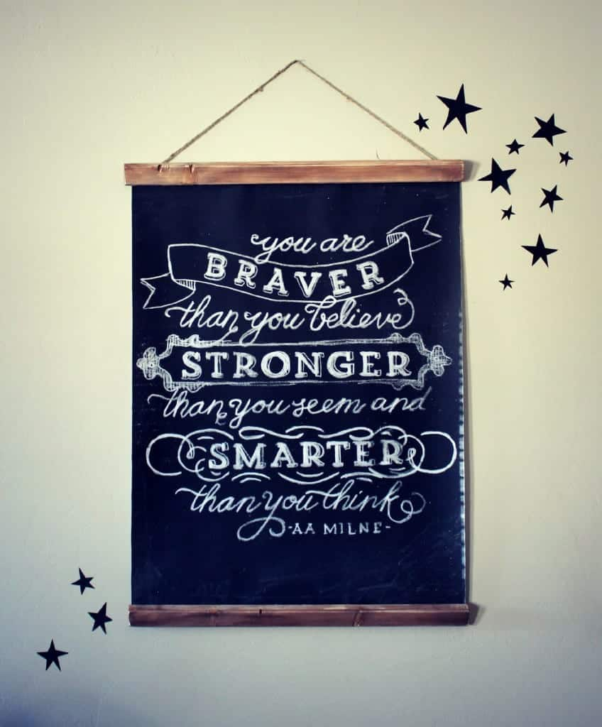 chalkboard artwork for cheap