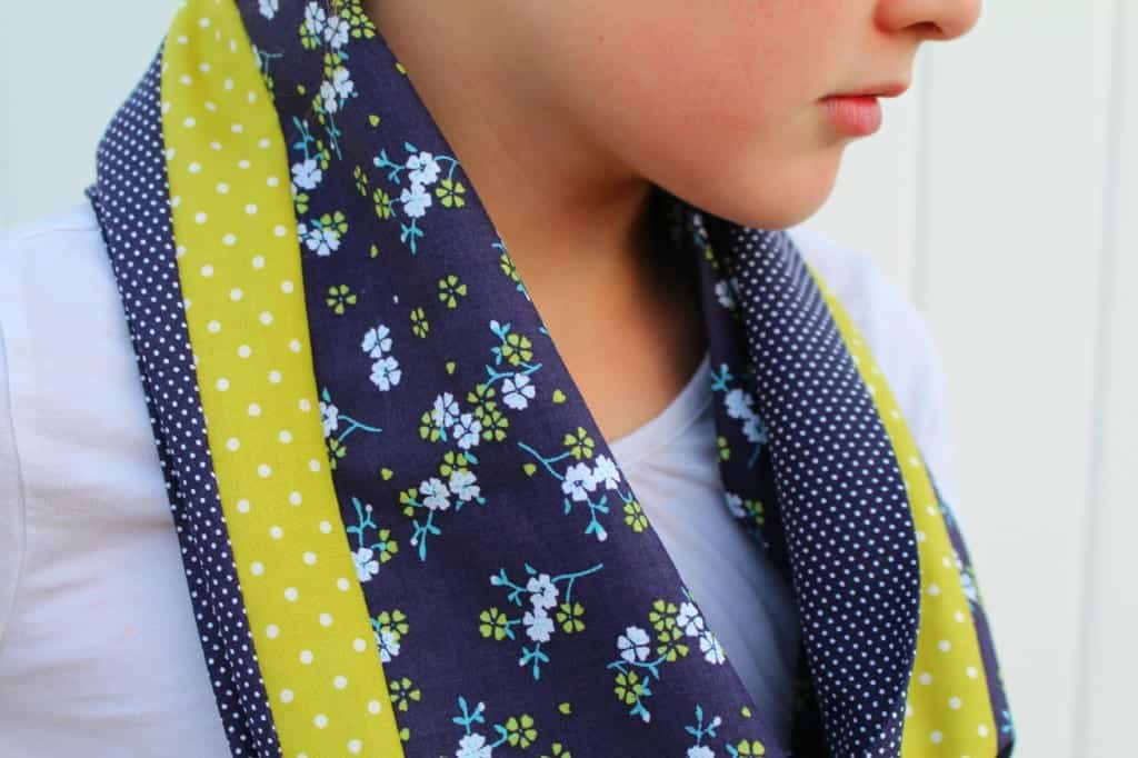 color blocking scarf