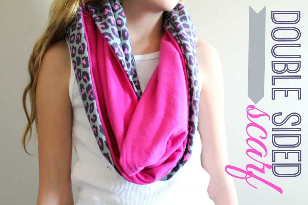 double sided scarf cheetah