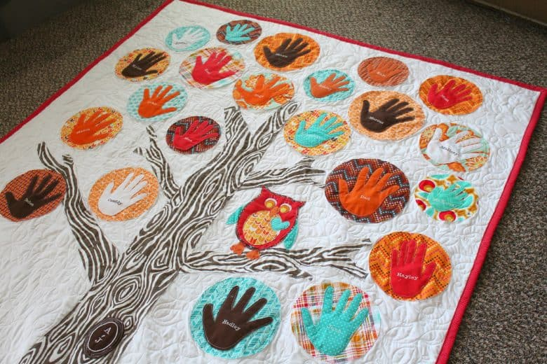 family tree quilt - A girl and a glue gun : quilt with family pictures - Adamdwight.com