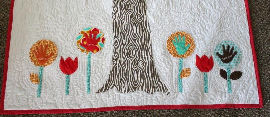 family tree quilt bottom