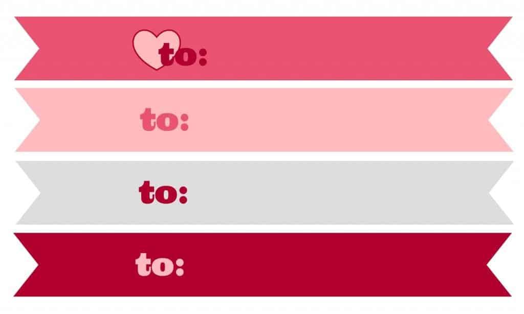 kisses valentines tag