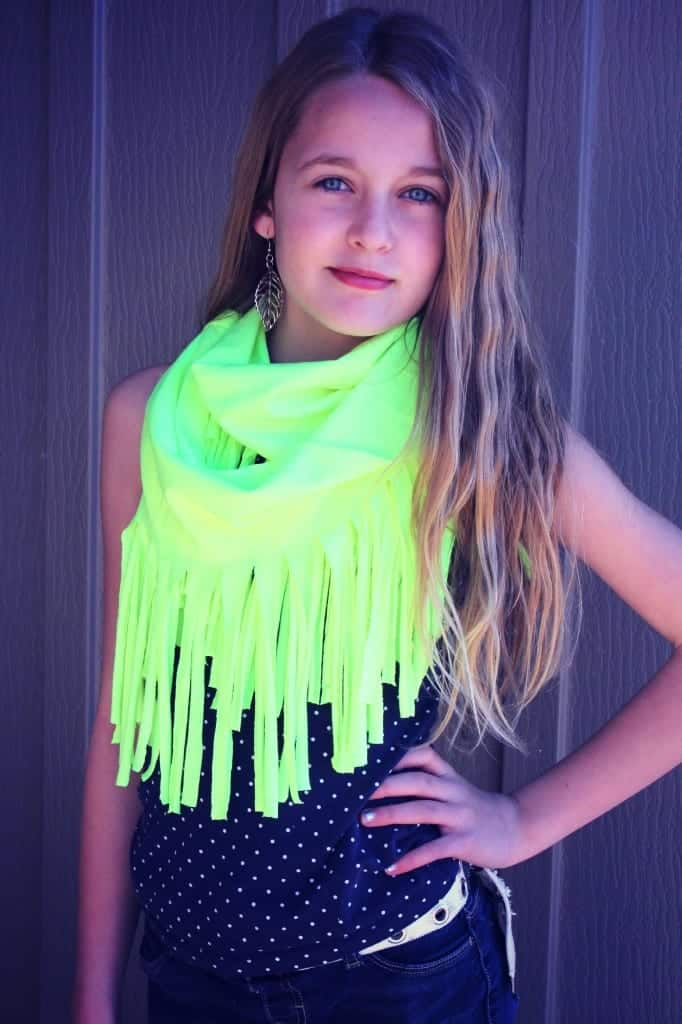 neon t-shirt scarf no sew