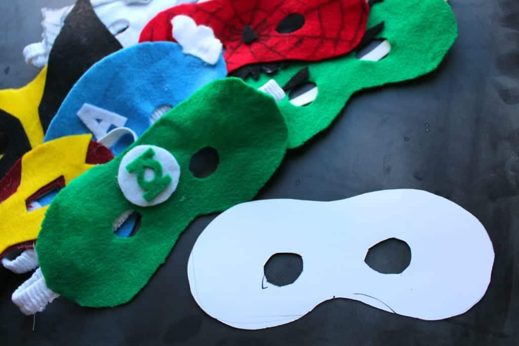 superhero masks from felt