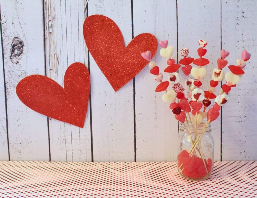 valentines candy skewers