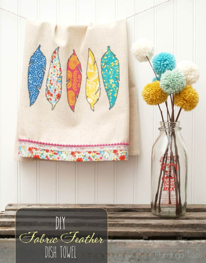 Pretty-DIY-Fabric-Feathers-Dishtowel-706x900