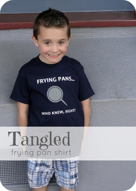 Tangled frying pan shirt