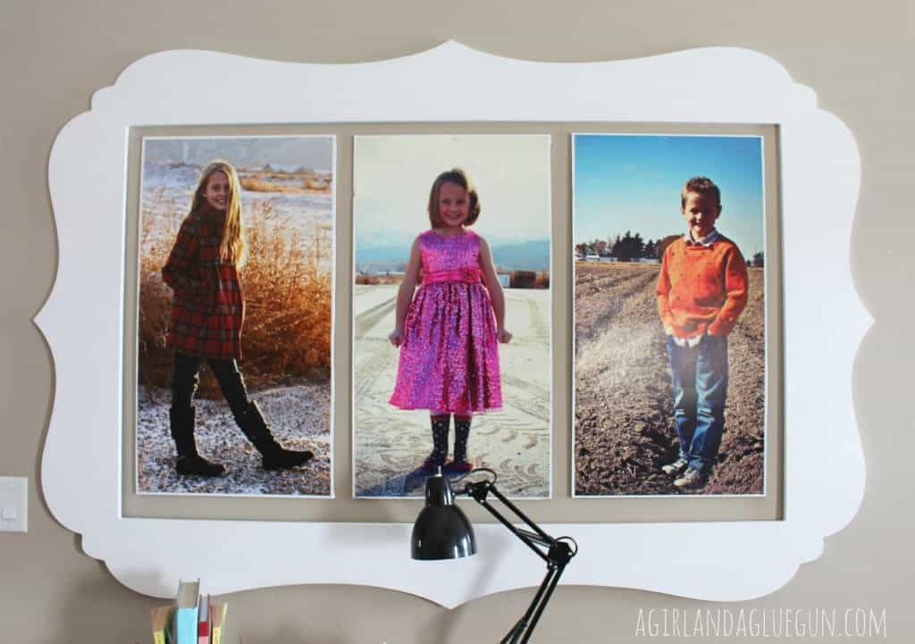 cut it out frames with decorating with pictures