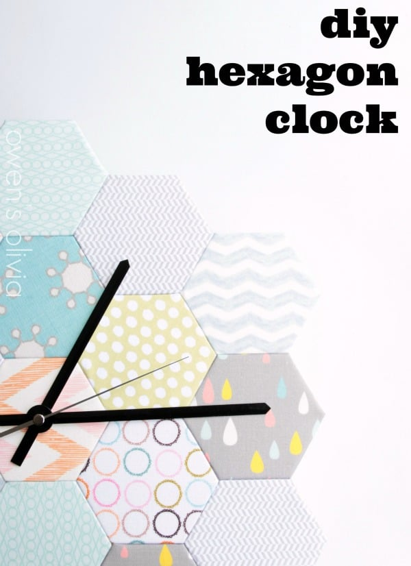 hexagon clock diy blog