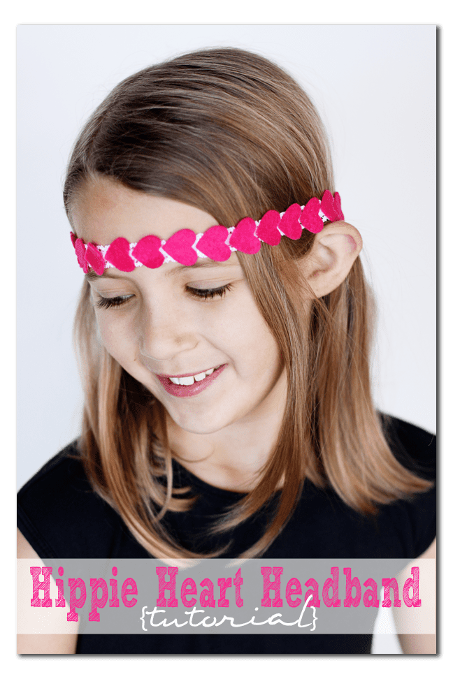 how to make a hippie heart stretchy headband copy