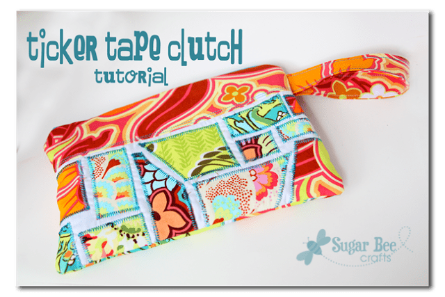 ticker tap clutch tutorial zipper pouch