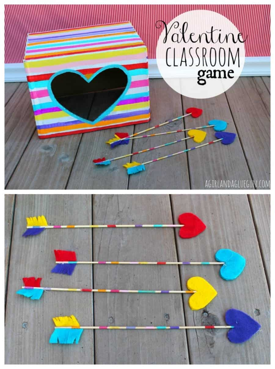 Classroom Quiz Ideas ~ Valentine classroom game with apple barrel craft paint a