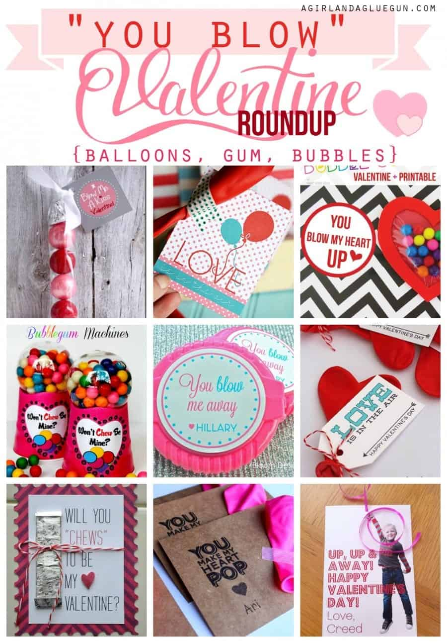 you blow...valentine roundup for balloons, bubble gum and bubbles