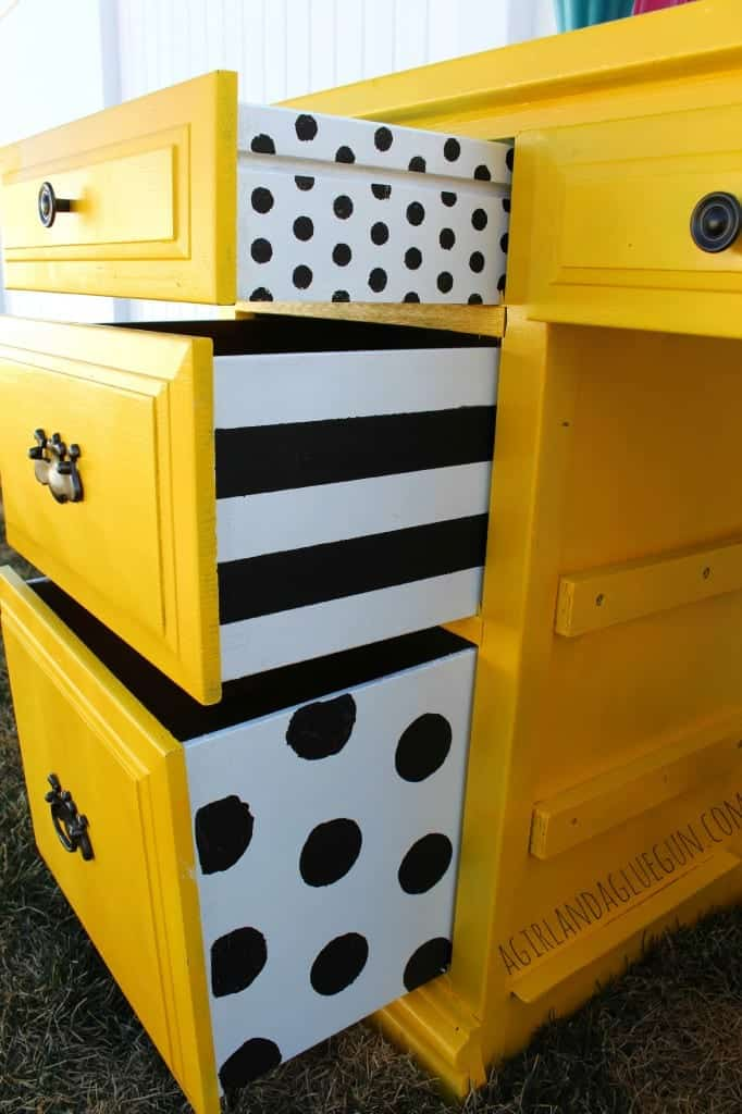black and white desk drawers