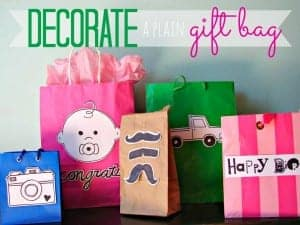 decorate plain boring bags.