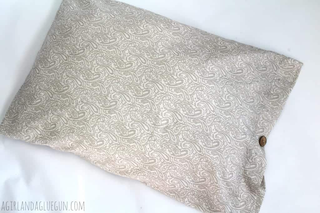easy pillow fix with button closure