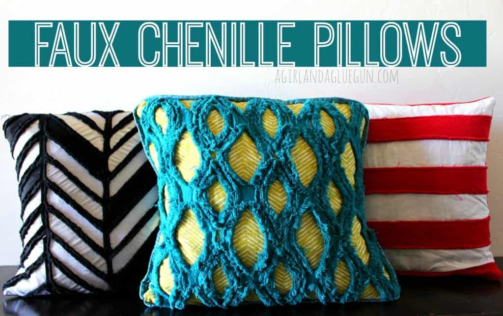 faux chenille pillows how to