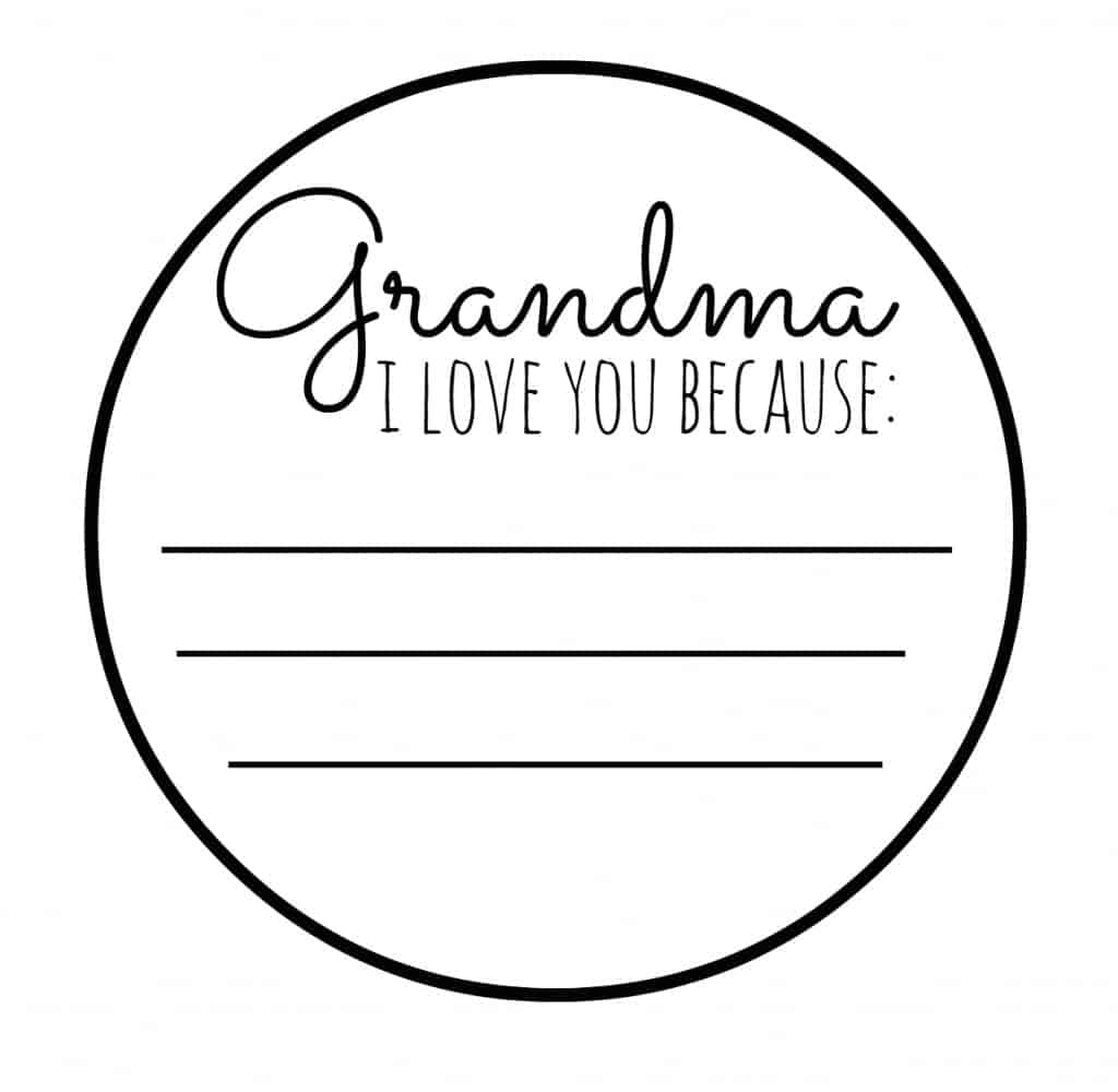 grandma i love you free printable