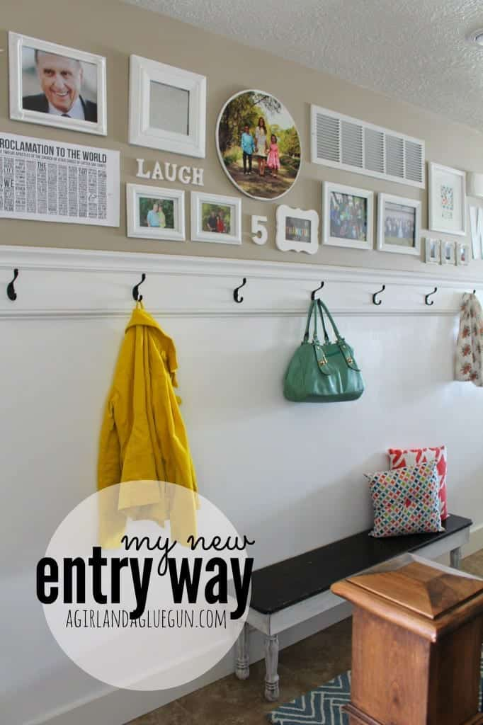 my new entryway a girl and a glue gun