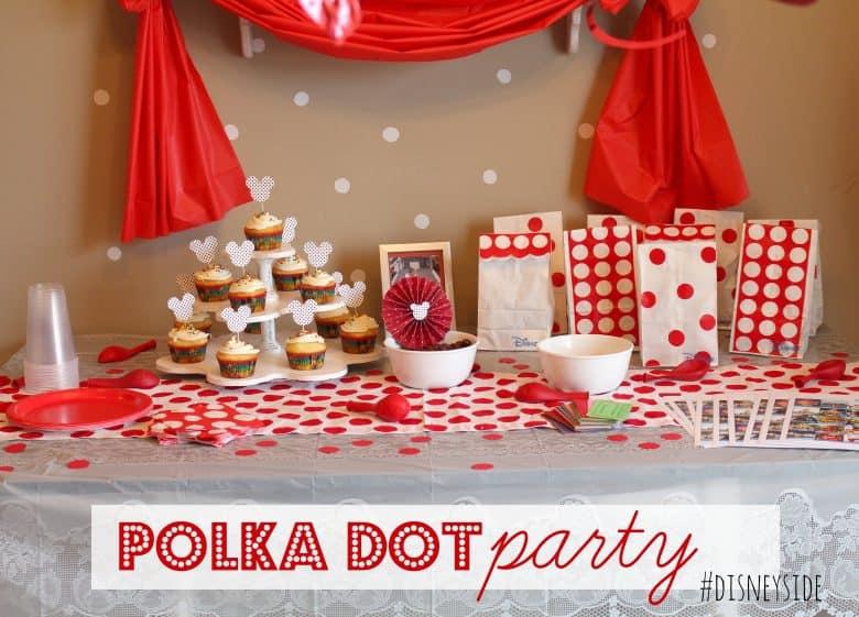 Polka Dot Party Disneyside Home Celebrations A Girl
