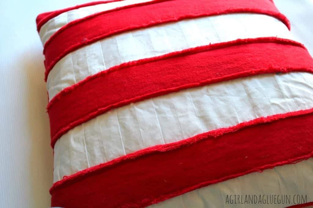 striped faux chenille pillow
