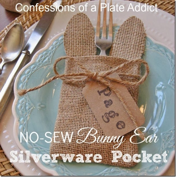 CONFESSIONS OF A PLATE ADDICT No-Sew Bunny Ear  Silverware Pocket_thumb[2]