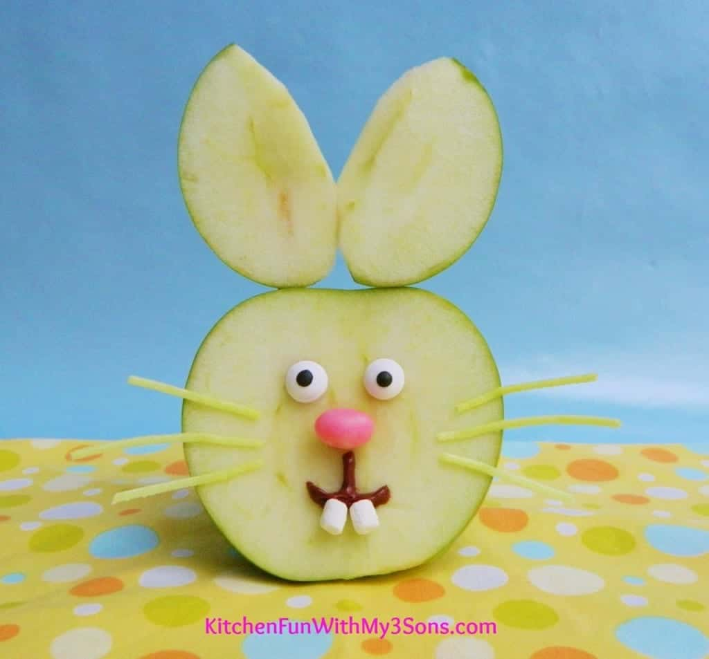 Easter-Bunny-Apple-Fruit-Snack