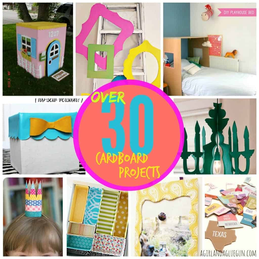 cardboard project roundup! over 30 awesome things to do with cardboard