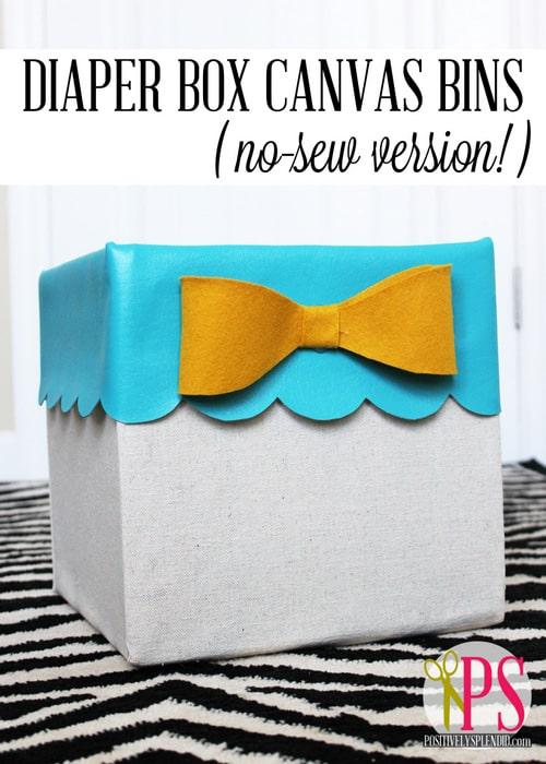diaper box canvas bin title