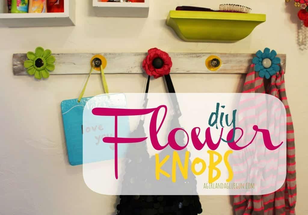 diy flower knobs