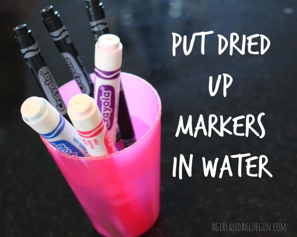 dried markers in water