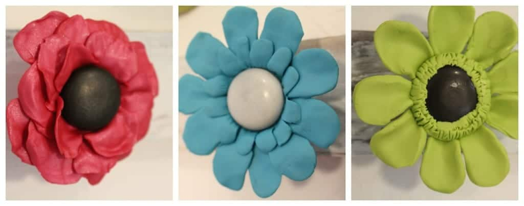 flowers made from premo clay