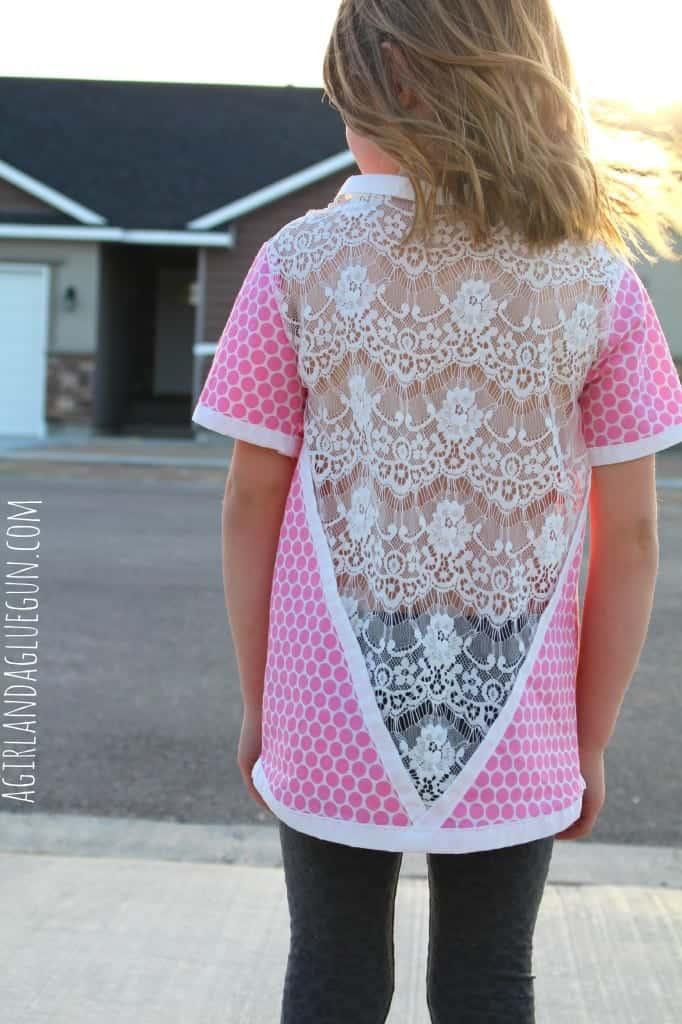 lacy back shirt--a girl and a glue gun