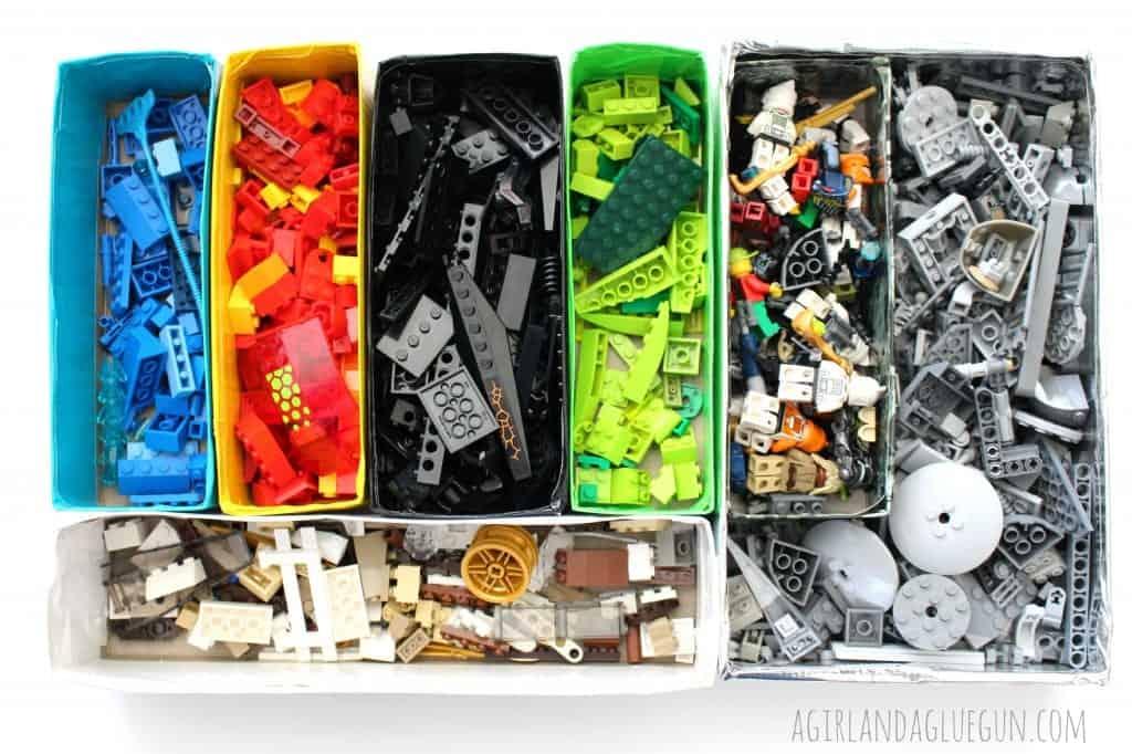 legos color coordinated
