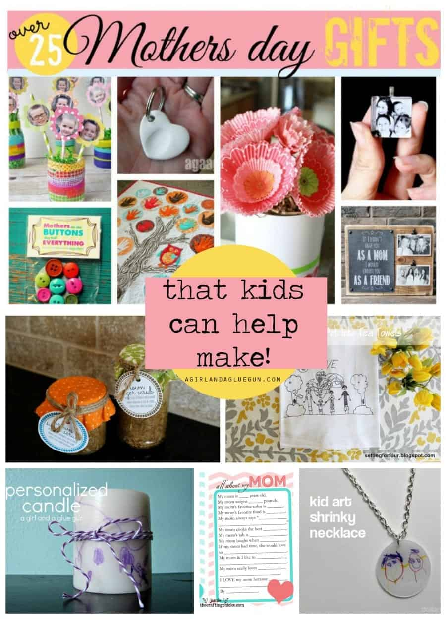 mother's day presents and gift that kids can help make