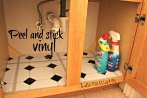 peel and stick vinyl for your cupboards!
