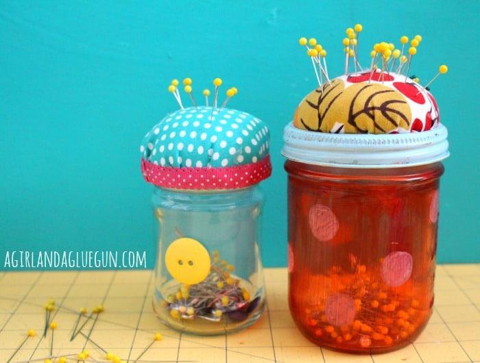 pin cushion jars