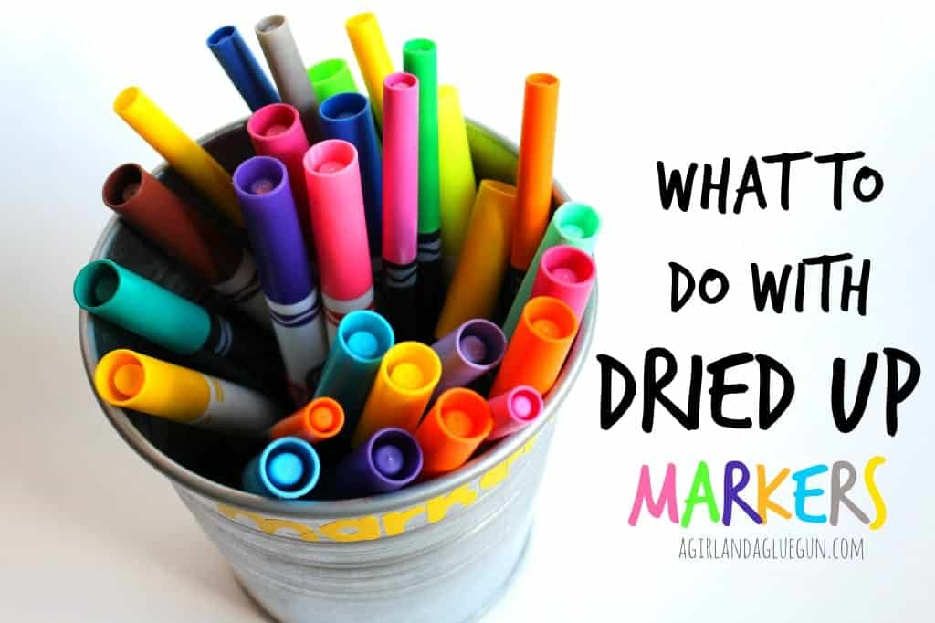 what to do with dried up markers