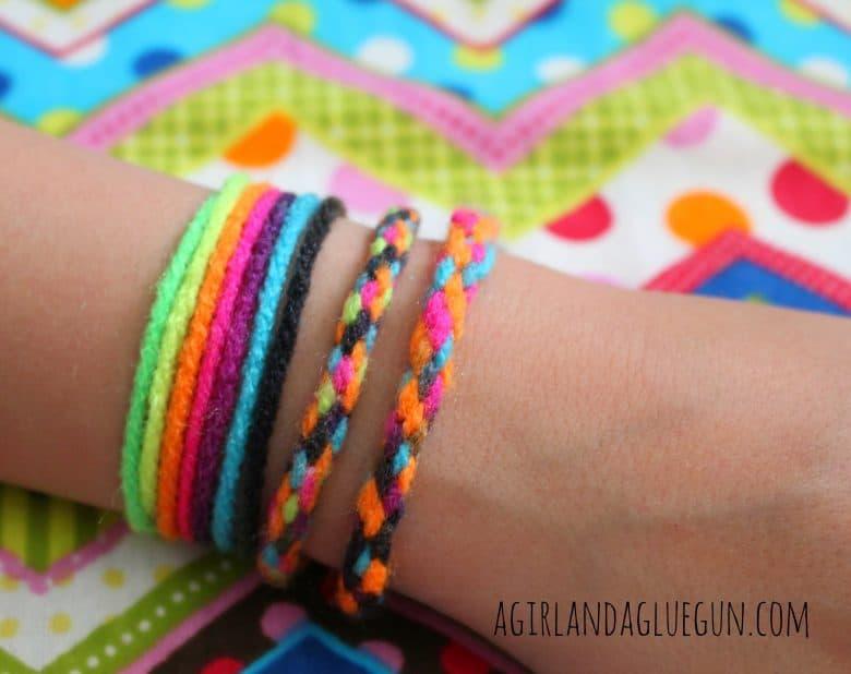 Yarn Bracelets Summer Survival Week A Girl And A Glue Gun