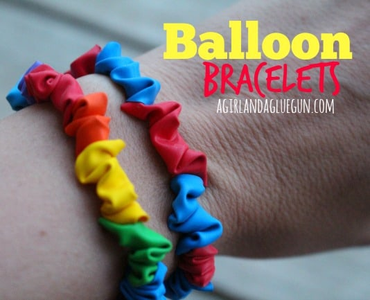 Balloon Bracelets a girl and a glue gun