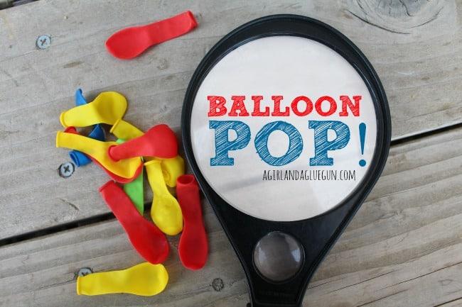 Balloon Pop outdoor games