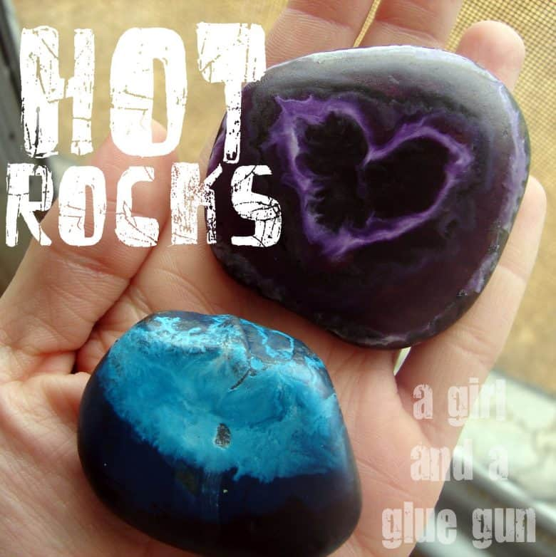 rock painting! summer survival kids crafts - A girl and a glue gun
