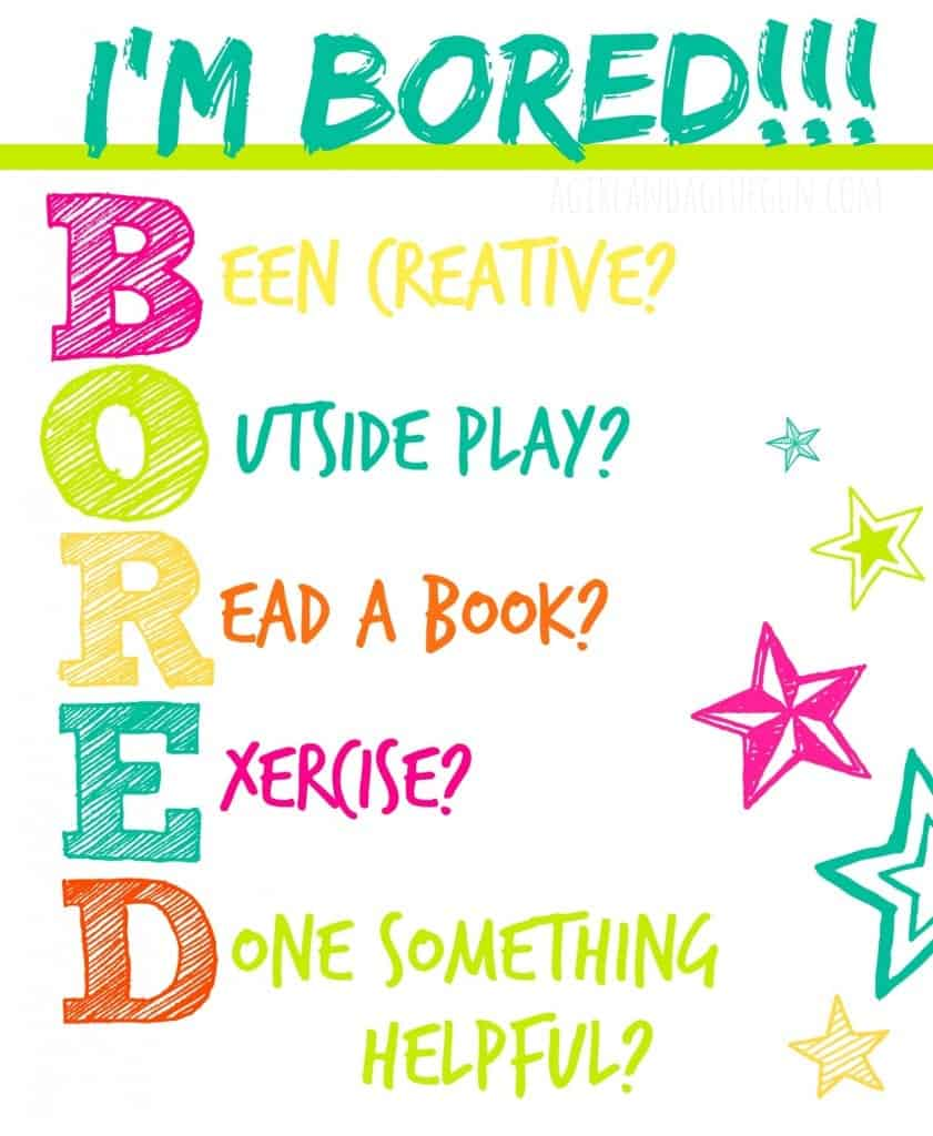 Im bored printable