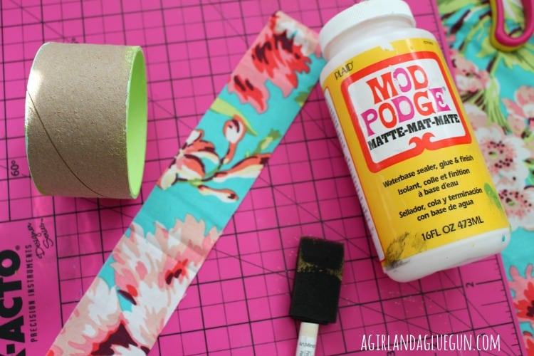 anthro knockoff floral cuff bracelet with mod podge