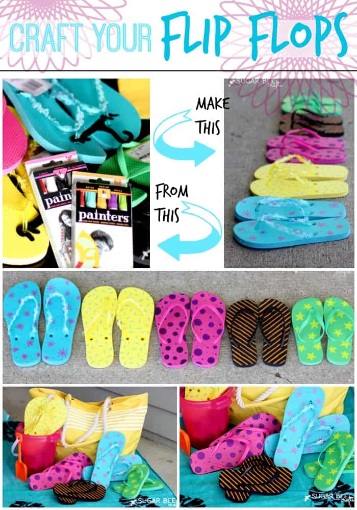 craft flip flops painters