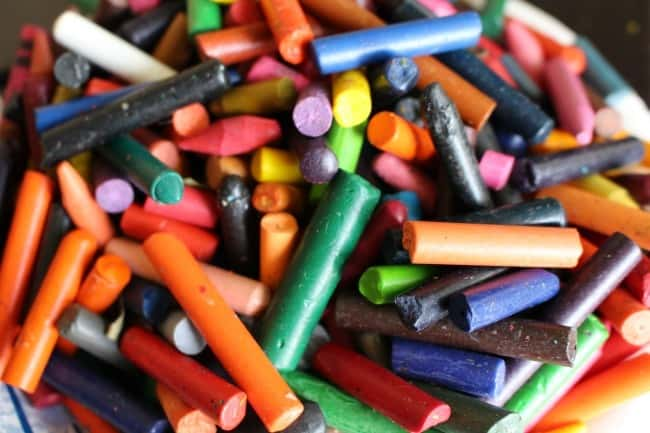 crayon bits broken--what to do with them