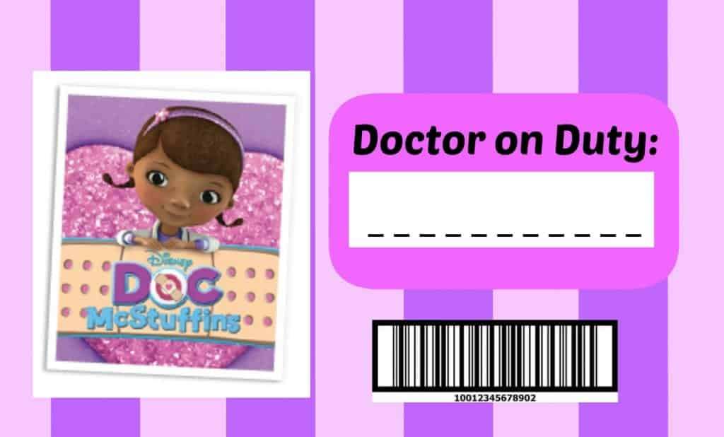 photo about Printable Doc Mcstuffins known as Document Mcstuffins health care provider package - A female and a glue gun