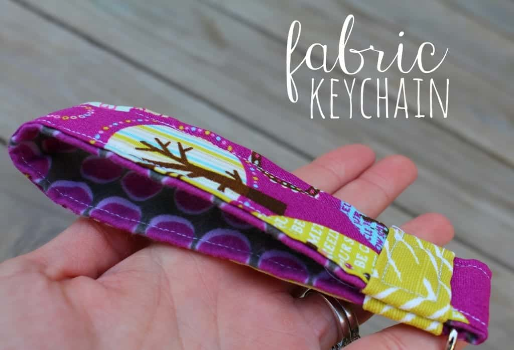 fabric keychain easy sewing project