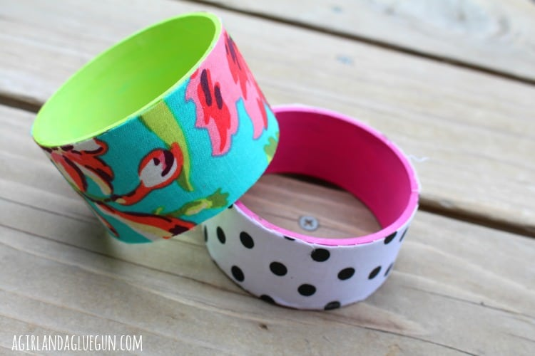 fabric wrapped bracelets